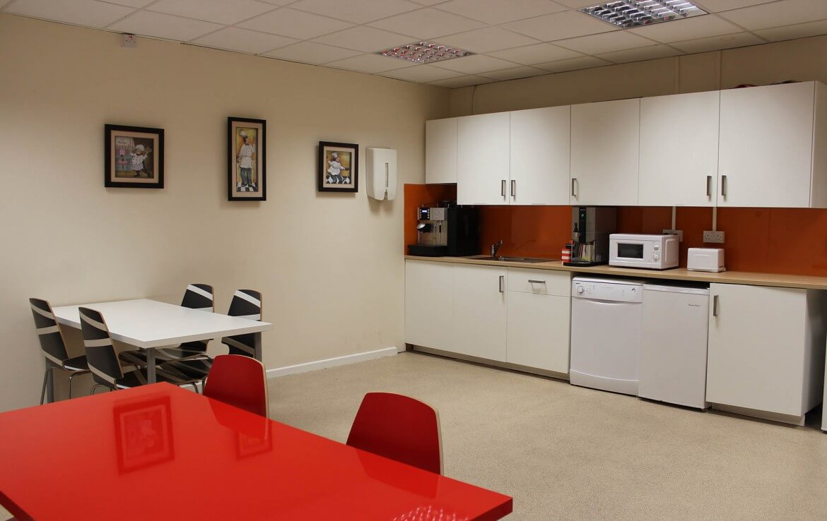 A fully equipped canteen in one of our Nesta Business centres